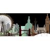 Λονδίνο, περίγραμμα με μοναδικά χρώματα,αυτοκόλλητο τοίχου, κοντινό