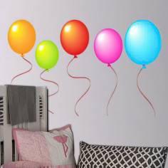 Πολύχρωμα μπαλόνια , Αυτοκόλλητο τοίχου
