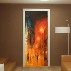Αυτοκόλλητο πόρτας, Illuminated street