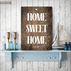 Home sweet home, ξύλινη πινακίδα κάθετη