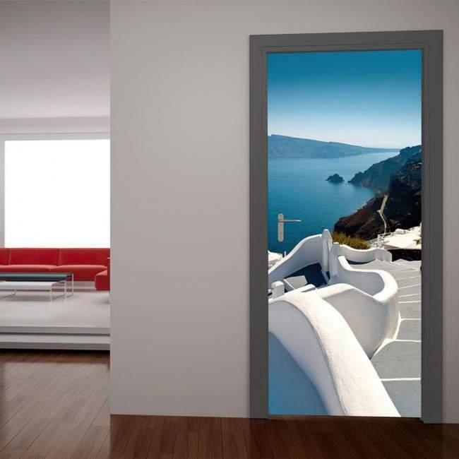 Ελληνικό τοπίο που σε ταξιδεύει Αυτοκόλλητο πόρτας, ντουλάπας