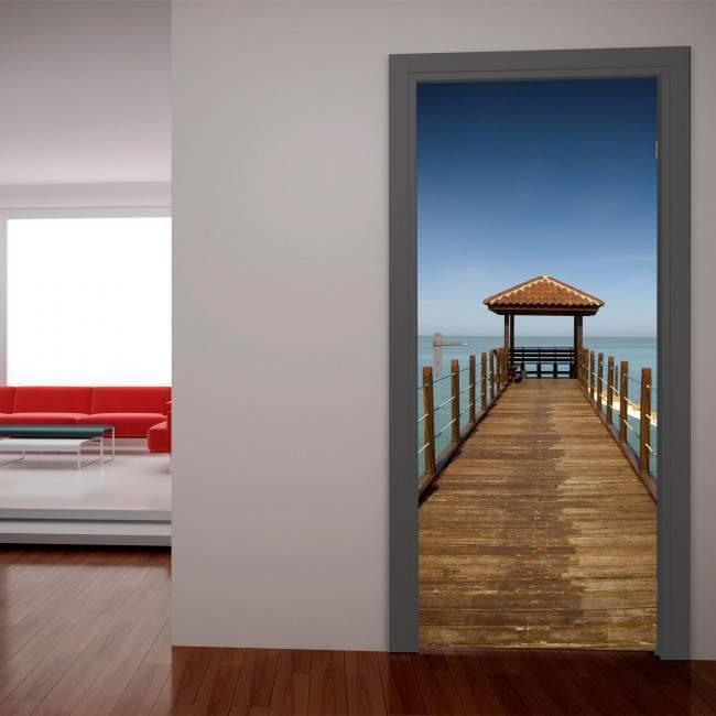 Προβλήτα στον ορίζοντα Αυτοκόλλητο πόρτας, ντουλάπας
