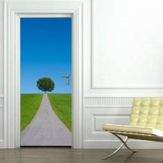 Ανηφορικός δρόμος, αυτοκόλλητο πόρτας