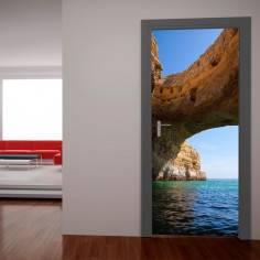 Βράχος και θάλασσα Αυτοκόλλητο πόρτας, ντουλάπας