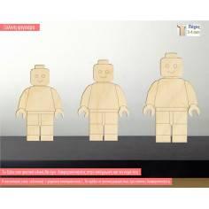 Φιγούρα Lego man, ξύλινη φιγούρα διακοσμητική