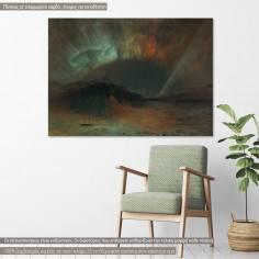 Aurora Borealis by F. E. Church, αντίγραφο - αναπαραγωγή πινακα σε καμβά