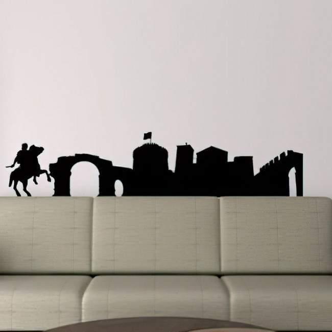 Θεσσαλονίκη, Περίγραμμα των σημαντικών κτιρίων, Αυτοκόλλητο τοίχου