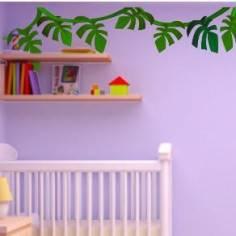 Αυτοκόλλητα τοίχου παιδικά, Φυτά της Ζούγκλας, μπορντούρα
