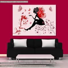 Butterfly lady, πίνακας σε καμβά