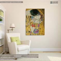 Πίνακας ζωγραφικής, The kiss, close up, Klimt Gustav, αντίγραφο σε καμβά