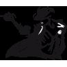 Michael Jackson figure 6 Αυτοκόλλητο τοίχου, κοντινό