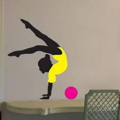 Αυτοκόλλητο τοίχου, Ρυθμική γυμναστική, μπάλα