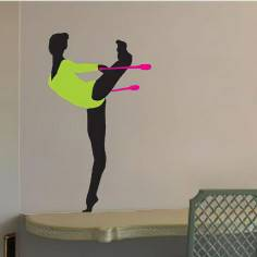 Αυτοκόλλητο τοίχου, Ρυθμική γυμναστική, κορίνες