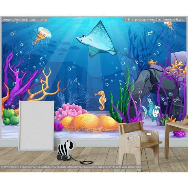 Underwater world, φωτογραφική ταπετσαρία