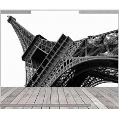 Πύργος του Άιφελ grayscale, φωτογραφική ταπετσαρία αυτοκόλλητη