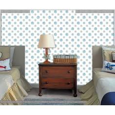 Ταπετσαρία τοίχου, Globes blue μοτίβο