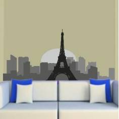Παρίσι, Περίγραμμα αποχρώσεις, αυτοκόλλητο τοίχου