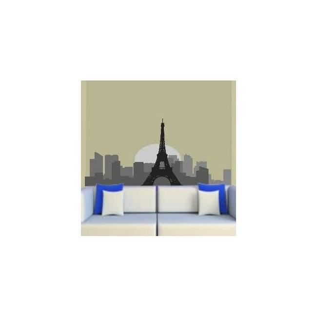Παρίσι | Περίγραμμα σε γκρι αποχρώσεις Αυτοκόλλητο τοίχου