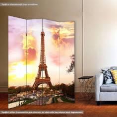 Sunset @ Eiffel, πτυσσόμενο διαχωριστικό (παραβάν)