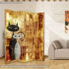 The cats, πτυσσόμενο διαχωριστικό (παραβάν)