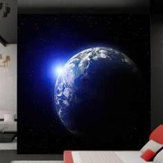 Υπέροχη θέα της Γης, φωτογραφική ταπετσαρία