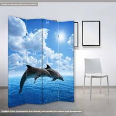 Dolphins, πτυσσόμενο διαχωριστικό (παραβάν)
