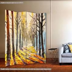 Autumn forest trees, πτυσσόμενο διαχωριστικό (παραβάν)
