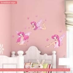Αυτοκόλλητα τοίχου παιδικά, Νεράιδες και πεταλούδες
