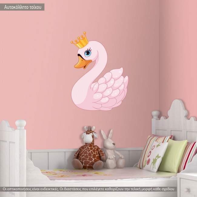 Αυτοκόλλητο τοίχου, κύκνος πριγκίπισσα με όνομα, Swan Princess