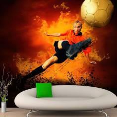 Εντυπωσιακός Ποδοσφαιριστής, φωτογραφική ταπετσαρία αυτοκόλλητη