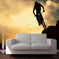 Ποδηλάτης στο βουνό, φωτογραφική ταπετσαρία