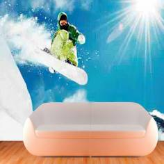 Snowboarding, φωτογραφική ταπετσαρία