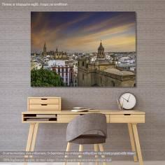 View of Sevilla, πίνακας σε καμβά