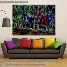 Neon forest, πίνακας σε καμβά