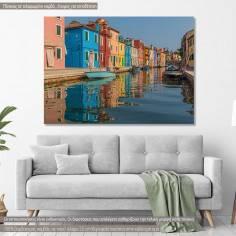 Burano, Italy, πίνακας σε καμβά