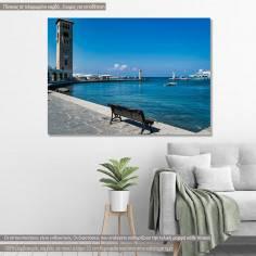 Λιμάνι της Ρόδου, πίνακας σε καμβά