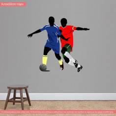 Αυτοκόλλητο τοίχου, Ποδοσφαιριστές II
