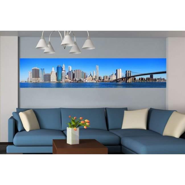 Πανόραμα Μανχάταν & γέφυρας Μπρούκλιν, ταπετσαρία τοίχου φωτογραφική