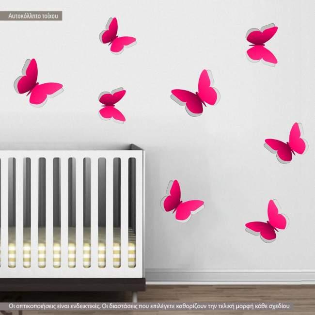 Σετ Δίχρωμες Πεταλούδες, αυτοκόλλητο τοίχου