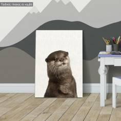 Βίδρα, παιδικός - βρεφικός πίνακας σε καμβά