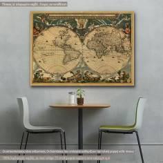 Πίνακας σε καμβά, Map of ancient world