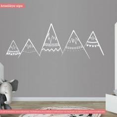 Αυτοκόλλητα τοίχου παιδικά, Βουνά tribal art1