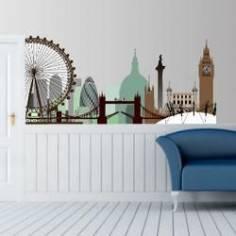 Λονδίνο, περίγραμμα με μοναδικά χρώματα,αυτοκόλλητο τοίχου