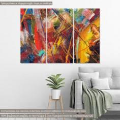 Πίνακας σε καμβά, Abstract painting XI, τρίπτυχος