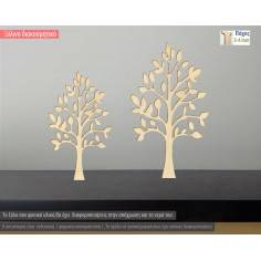 Ξύλινο δέντρο με πουλιά, διακοσμητική φιγούρα