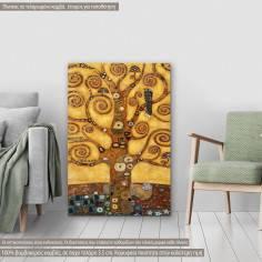 Πίνακας ζωγραφικής, Tree of life, close up, Klimt G, αντίγραφο σε καμβά