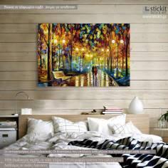 Πίνακας σε καμβά, Rain reflections