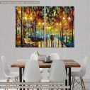 Πίνακας σε καμβά, Rain reflections, δίπτυχος