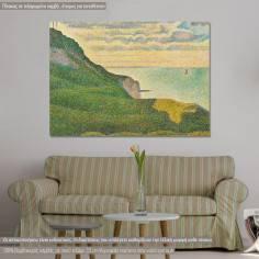 Πίνακας ζωγραφικής, Seascape at port en Bessin, Seurat G., αντίγραφο σε καμβά