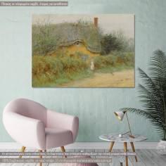 Πίνακας ζωγραφικής, An old cottage by Allingham H., αντίγραφο σε καμβά
